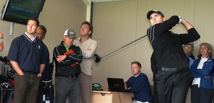 Celebrity demo by Golf Professional Oliver Wilson